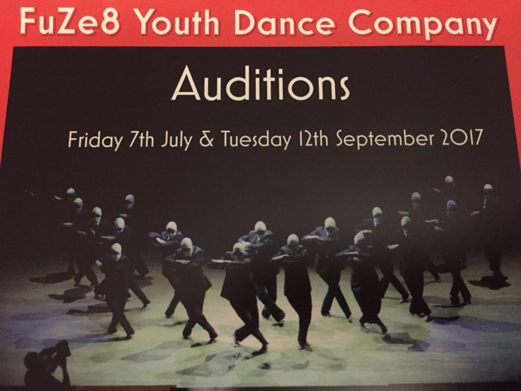 Next Audition: Tuesday 12 September 2017